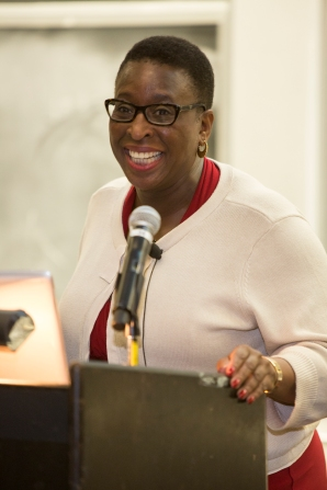 """You have to believe the sky's the limit. You can't have limitations on your thoughts,"" Dr. Yvonne Spicer, Ed.D told students during the ceremony. Spicer was a keynote speaker of the event."