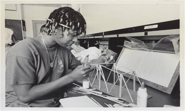 In July 1980 during MITES, Ericcson learned to work in high pressure scenarios during a bridge building competition.