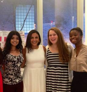 Valarezo mentoring at Girls Who Code, a nonprofit aimed at reaching gender parity in computer science.